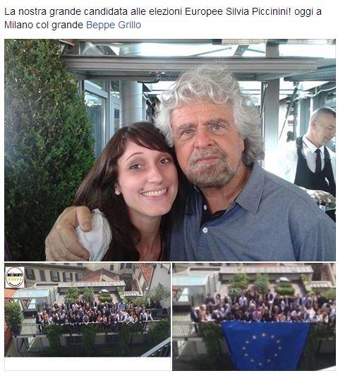 La nostra grande candidata alle elezioni Europee Silvia Piccinini! oggi a Milano col grande Beppe Grillo