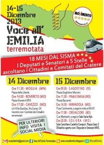 "Locandina del Tour ""Voce all'EMILIA terremotata"""