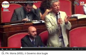 2014-08-05 00_13_49-DL PA_ Morra (M5S), il Governo dice bugie - YouTube